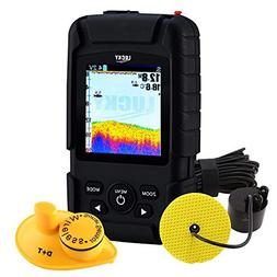 2-in-1 LUCKY Rechargeable Fishfinder Depth Wireless 147ft  T