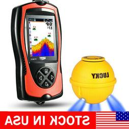 Lucky 147Feet Wireless Sonar Fish Finder With Attractive Lam