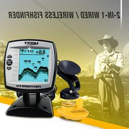 LUCKY 2-in-1 Fish Finder Wired / Wireless Fishfinder Depth S
