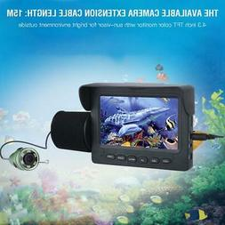 "4.3"" HD Underwater Visual Fish Finder Video Camera Display F"