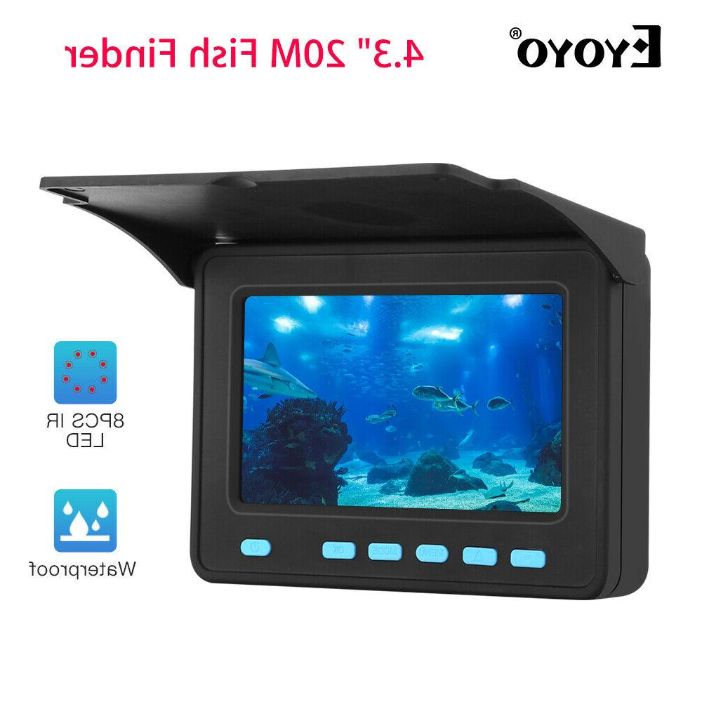 "Eyoyo 4.3"" 20M Fish Finder Used 6-8 Hours IP68 Underwater Fi"