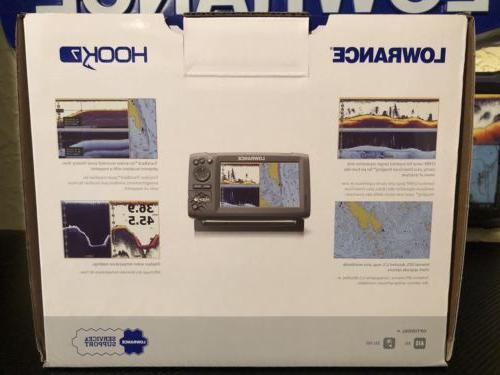Lowrance Hook With HDI Transducer C-Map Mapping SHIP!!