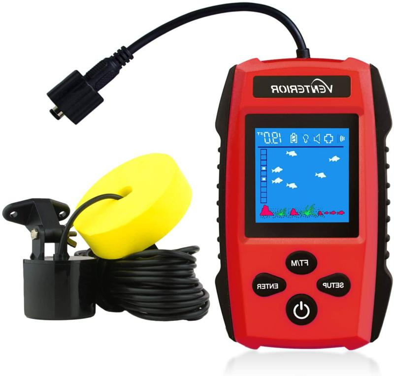 Venterior Portable Fish Finder Handheld Fishfinder Depth Fin