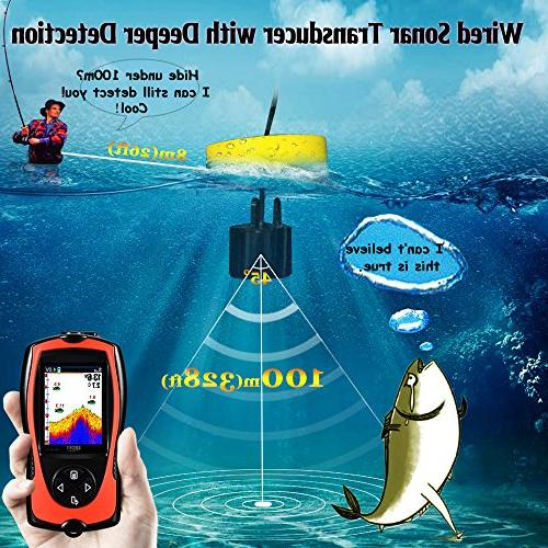 LUCKY Fish Wired Sonar Sensor 328 Water Finder LCD Kayak Sea Fishing