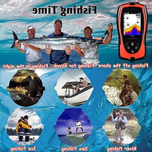 LUCKY Fish Finder Wired Sonar Sensor 328 Feet Depth Kayak Fishing Sea