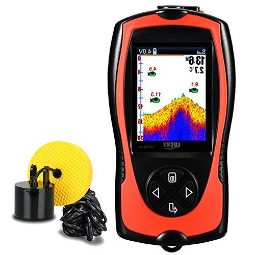 portable fish finder wired sonar