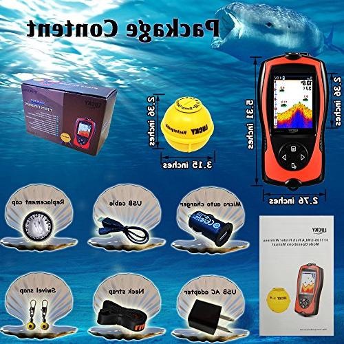 LUCKY Fish Transducer Sonar Sensor Feet Water Fishfinder with Fish Lamp for Sea Fishing