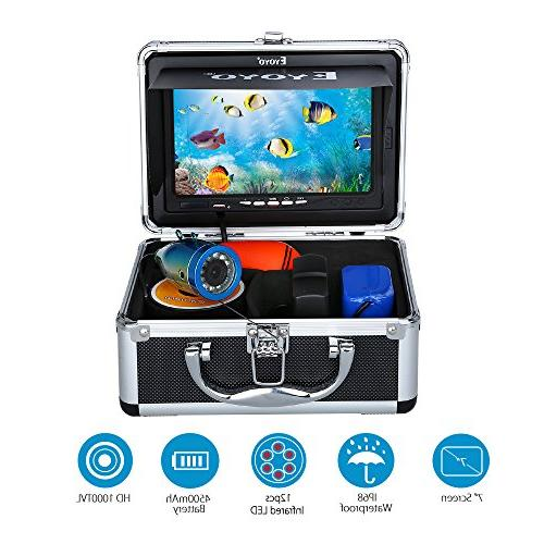 Eyoyo LCD Fish Waterproof Underwater HD Fishing Camera 12pcs for Ice,Lake