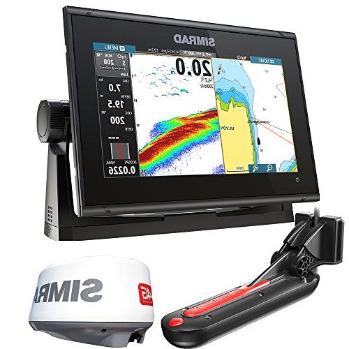 simrad go9 xse chartplotter fishfinder w totalscan transduce