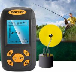 LCD Fish Finder 100M Temperature Fishing Monitor Echo Sounde