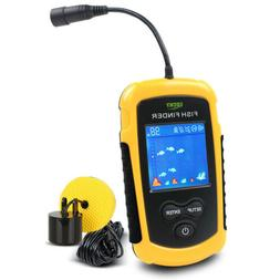 Lucky Fish Finder Water Depth 100M Alarm Portable Sonar sens