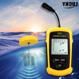 LUCKY Portable Fish Finder 100M Sonar Sounder Transducer for