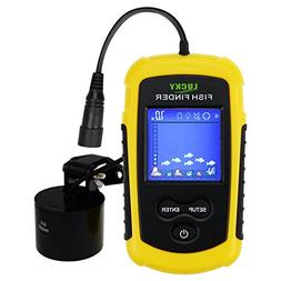 LUCKY Portable Fish Finder Sonar, TN/Anti-UV LCD Display LED