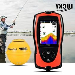 LUCKY Portable Fish Finder Transducer Sonar Fishfinder with