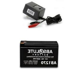 12V Charger Mighty Max 12V 7.2AH SLA Battery for Lowrance Portable Fishfinder