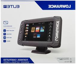New Lowrance Elite-7 Ti GPS Fish Finder with Mid/High/DownSc