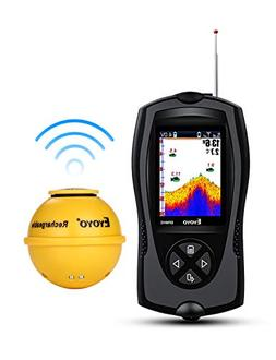 Eyoyo Portable Fish Finder 147 Feet Water Depth Sonar Sensor