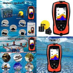 Portable Fish Finders Handheld Kayak Finder Wired Depth Sona