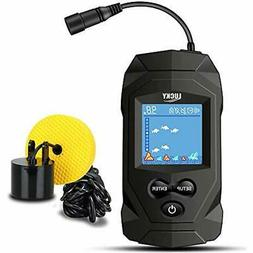 LUCKY Portable Fish Finders Wired Transducer Kayak Kit Depth