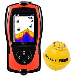LUCKY Portable Fish Finder Transducer Sonar Sensor 147 Feet