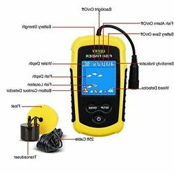 Lucky Portable Fishing Sonar, Handheld Wired Fish Finder Fis