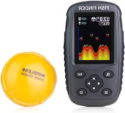 Venterior Portable Rechargeable Fish Finder Wireless Sonar S
