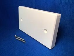 """Transom Transducer Boat Mounting Board Plate 8"""" PVC 1""""-T"""