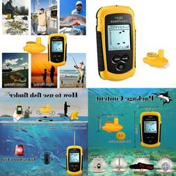Wireless Fish Finder Portable For Boat Fishing Anti UV LCD D