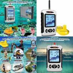 Wireless Fish Finder Sonar Sensor Portable Fishfinder LCD Di
