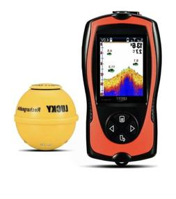 LUCKY Wireless Portable Fish Finder with Attracting Fish Lam